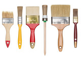 Paint brushes isolated