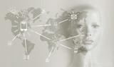Artificial intelligence concept - Internet, network, globalization - 188849534