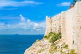 Defensive walls of Dubrovnik, Croatia, Adriatic coast  - 188853795