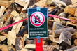 Closeup of a Fire Ban in Effect sign