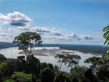 view from above on the Amazon River Napo, Yasuni National Park, Ecuador