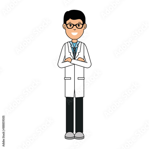 doctor avatar character icon vector illustration design