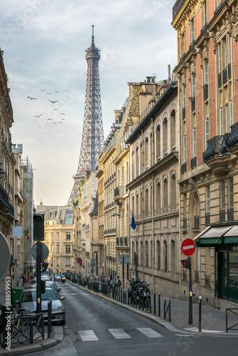 canvas print picture Straßenszene in Paris, Frankreich