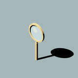 Standing magnifier with shadow