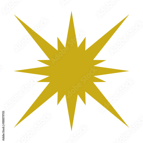 Isolated shape star - 188879703