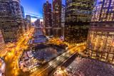 Chicago downtown evening skyline - 188879913