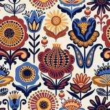 Folk floral seamless pattern. - 188898386