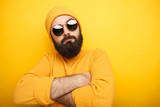 Cool bearded man in sunglasses - 188917578