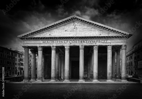 Foto op Canvas Rome Pantheon at night, Rome, Italy