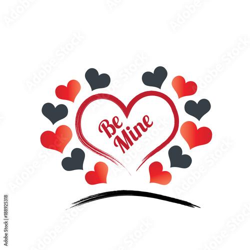 Fotobehang Vintage Poster Valentine Heart Background