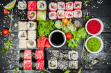 Sushi sets on the table © Alexandr