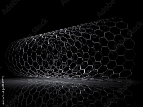 Hexagonal lattice tube 3d render | Buy Photos | AP Images | DetailView