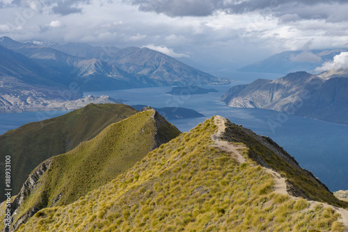 Foto Murales Lake Wanaka, view from Roys Peak