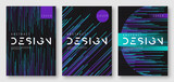 Fototapety Abstract gradient futuristic geometric cover designs, brochure templates, posters. Vector illustration. Global swatches.
