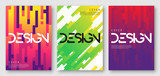 Fototapety Abstract gradient geometric cover designs, brochure templates, posters. Vector illustration. Global swatches