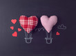 Valentines day concept with heart air balloons