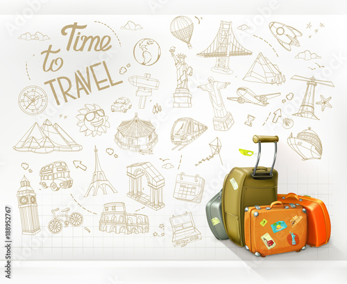 Time to Travel. Infographics vector