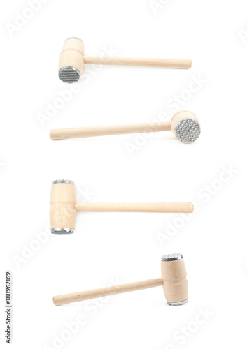 Meat tenderizer hammer isolated