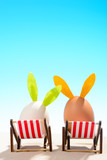 Easter eggs in loungers