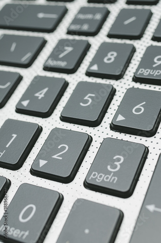 black keyboard close-up - 188968707