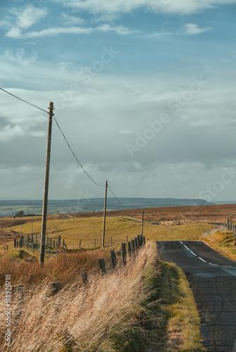Foto Murales Paesaggio sulla costa dell'irlanda del nord in autunno