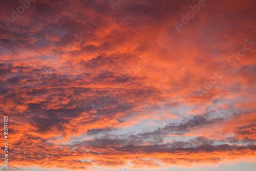 Foto op Canvas Baksteen Red sky