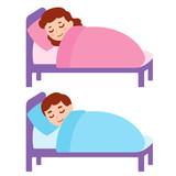 Sleeping girl and boy - 188976338