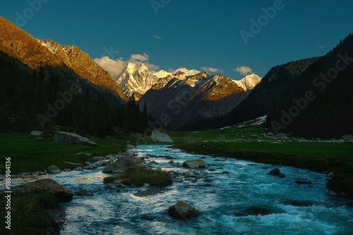 Foto op Canvas Groen blauw river