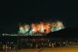 Quadro Silvesterfeuerwerk an der Copacabana in Rio de Janeiro, Brasilien