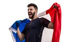 French Male Athlete  Fan Celebrating   Sticker