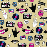seamless rock music pattern - 188995394