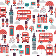 vector british seamless pattern - 188995783