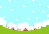キャンプ場 風景 桜 - 189005776