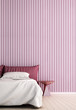 The interior design of minimal bedroom and pink color pattern wall texture background  - 189021198