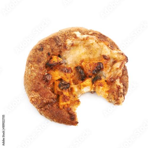 Mini pizza pastry isolated