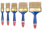 Paint brushes isolated
