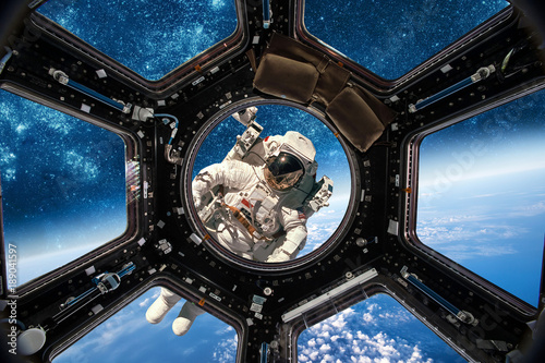 Plexiglas Nasa Astronaut in outer space