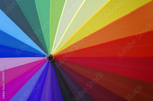 colorful umbrella view