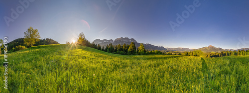Foto Murales breites Panorama von Kitzbühler Horn und Wilden Kaiser