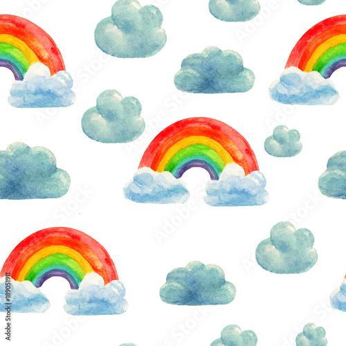 Watercolor rainbow pattern