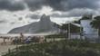 Quadro Dramatic clouds overlooking Ipanema, Rio de Janeiro, Brazil