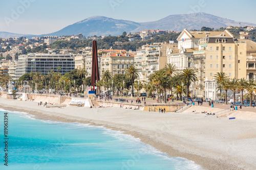 Fotobehang Nice France Nice Mediterranean beach