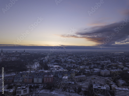 Staande foto Stockholm Aerial view of city Tallinn Estonia