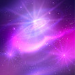 Glowing background with outer space