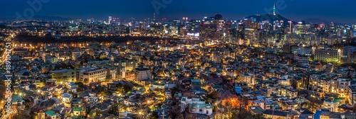 Fotobehang Seoel View over Seoul