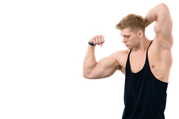 Athletic muscular guy © avlasvitali