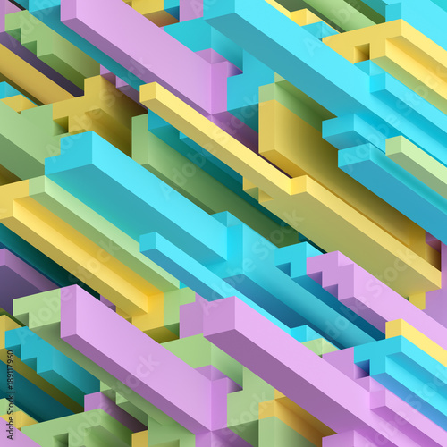 3d rendering, abstract voxel background, geometric wallpaper, cube, punchy pastel, modern rebellious color scheme, bright candy palette