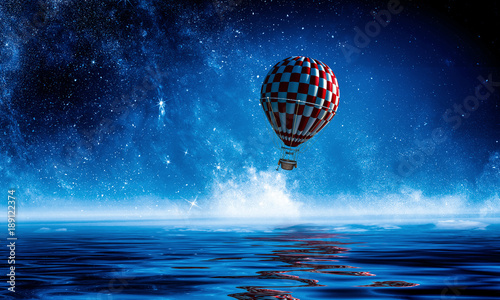 air-balloon-in-sea