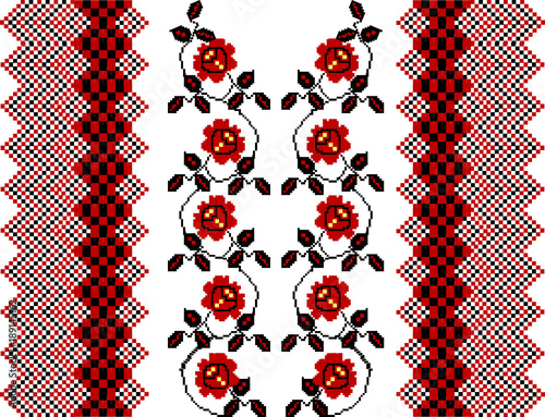 Abstract image, The stylized ethnic ornament