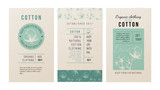 Cotton banners in vintage style - 189149755